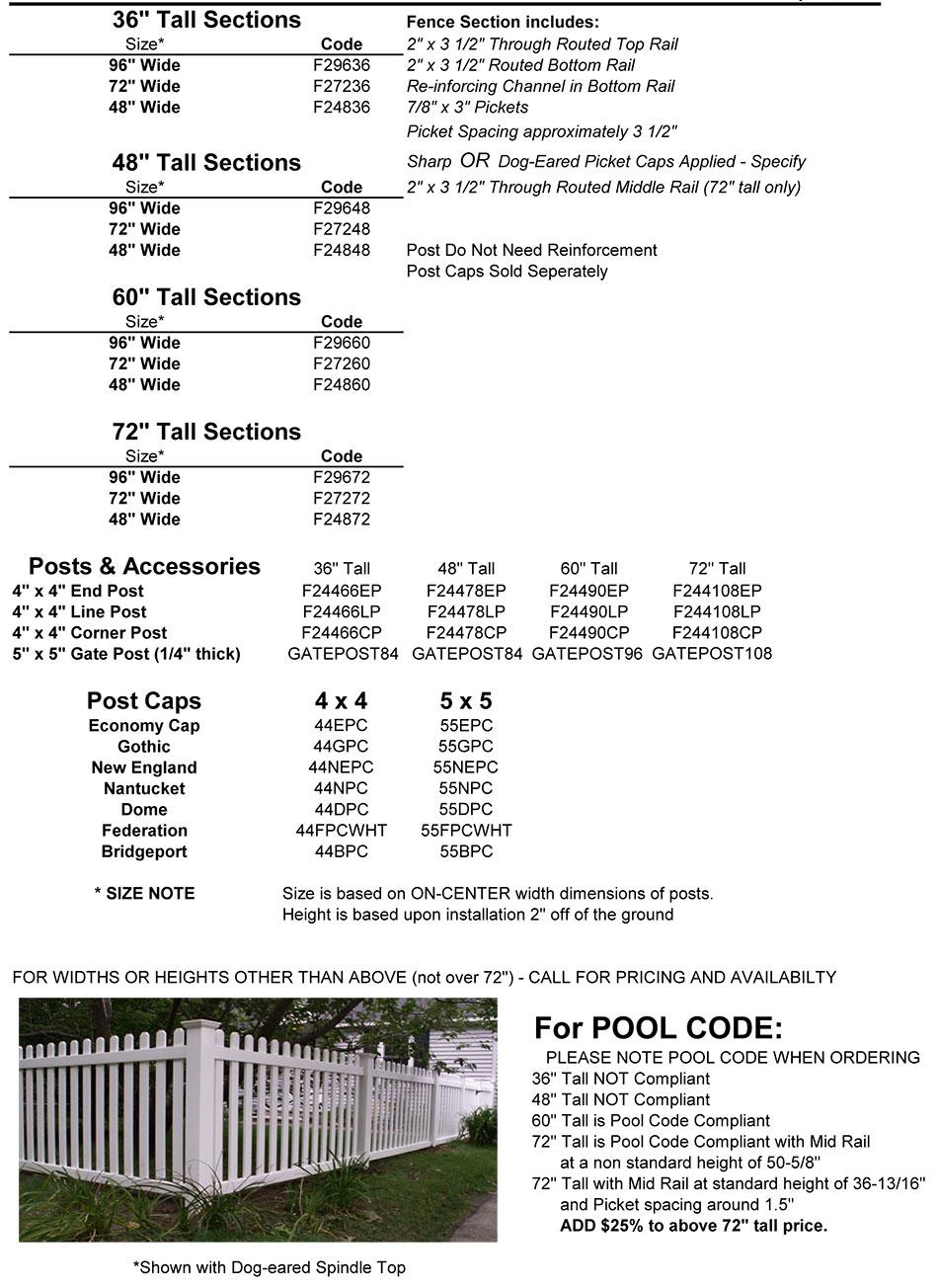 Fairmont 2 Size Information