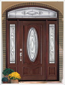 Exterior Door w/ 2 Sidelights and Transom