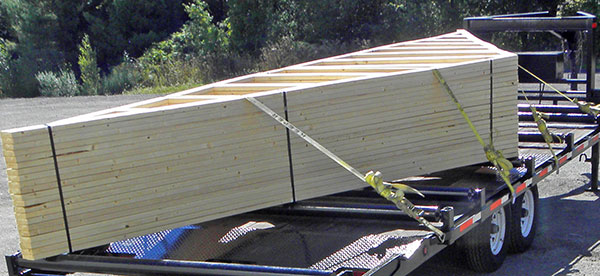 Trusses on Trailer