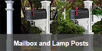 Mailbox and Lamp Posts