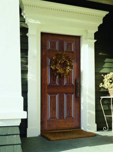 Barrington 6 Panels Black Walnut Exterior door beauty